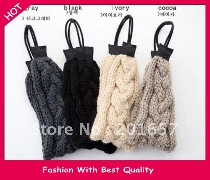 NEW wool knitted handmade korea style autumn and winter fashion braid platied wide headband headwrap 6pcs/lot