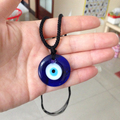Mal de Ojo turco Adjutable Collar 3 CM/4 CM de Cristal Encanto Pendiente de la Joyería de Moda Azul Kabbalah Judía Protector