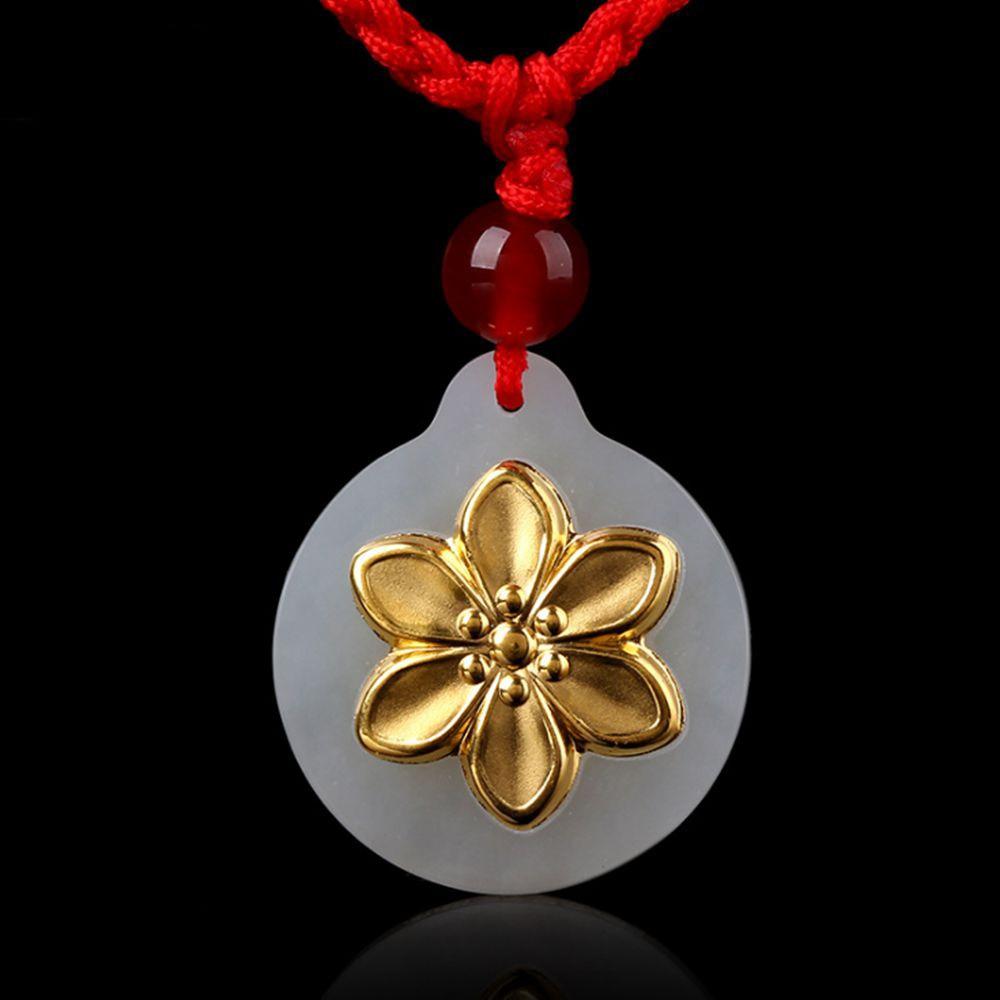 Fashion Flower Pendant Jewelry Elegant Flower Stylish Jade Pendant For Men Women Unisex Necklace Jewelry бита bosch 2607001674 1шт 152мм torх t30 хh