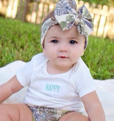 1 stück Neue Bebe Floral Top Bogen Knoten Stirnband für Kleine - Bekleidungszubehör