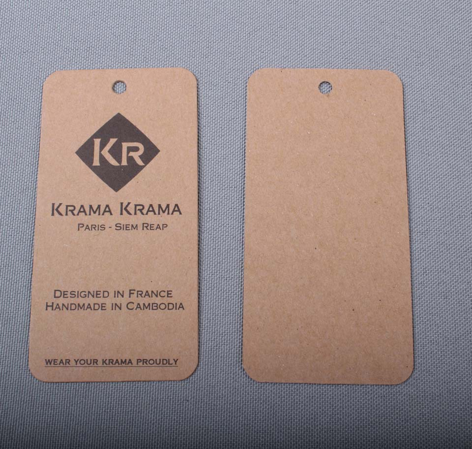 Personalized printed kraft tags paperboard Hangtag custom shape available design min 1000pcs lot