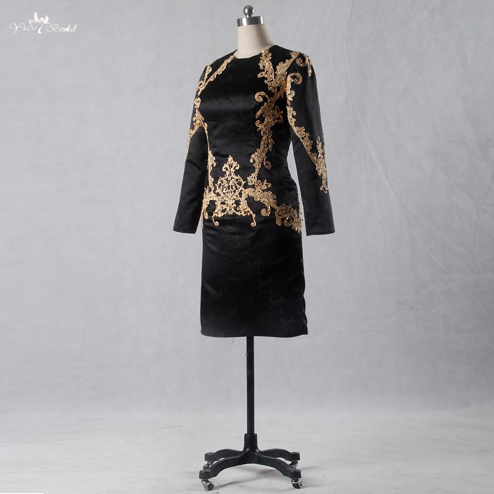 e1a3879b382 Black And Gold Short Evening Dresses