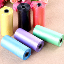 20 Rolls Dog Poop Bag Random New For Puppy Dogs Color Outdoor Pet 2019 Solid Bags Cat Waste Pick Up Clean