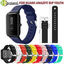 20mm Watchband Replacement Silicone Sport For Huami Amazfit Bip Youth band strap For Huami Bip BIT PACE Lite Youth Band Bracelet 20mm woven nylon watch band sport strap for huami amazfit bip bit pace lite youth smart watch replacement watchband wrist loop