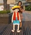 Free shipping 150cm size Luffy plush dolls super-sized anime pirates luffy  one piece plush toys