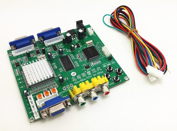 Convertisseur 2 VGA sortie CGA/EGA/YUV vers VGA pour machine de jeux d'arcade