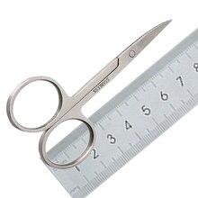 Изогнутые педикюрные ножницы из нержавеющей стали, ножницы для ногтей, Маникюрный Инструмент для ногтей, бровей, носа, ресниц, кутикулы, ножницы