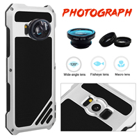 Aluminum Metal Silicon Shock Proof Case For Samsung Galaxy S8 S8 Plus S8 Shockproof Cover With