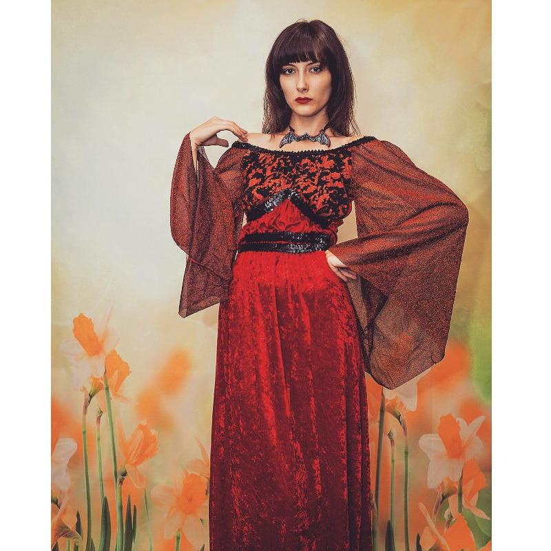 İntibah Donu Vampir Kostyumu Qadın Gothic Cadu Kraliçası Qadın - Karnaval kostyumlar - Fotoqrafiya 6