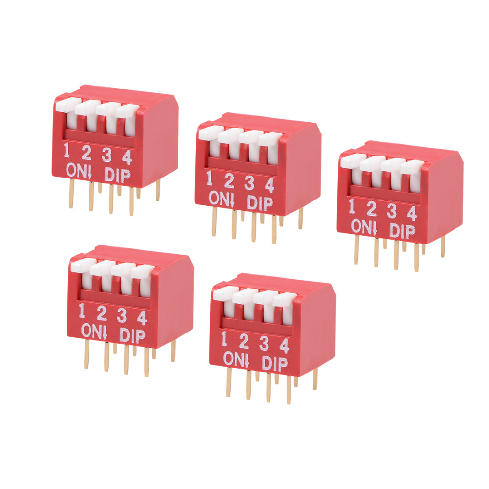 Pack of 2 PCB Mounted DIL DIP Switch 8 Way
