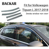 Backar Auto Auto Finestre Pioggia Vento Per Volkswagen VW Tiguan 2017 2018 Sole Scudo Deflettore Visiera Trim All Weather Accessori