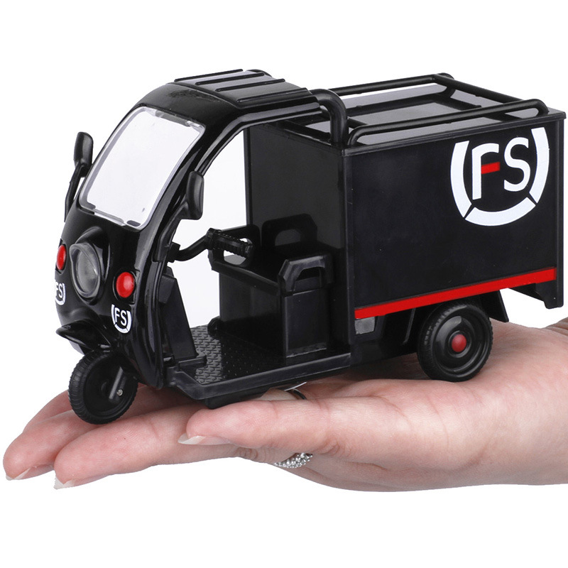 High Simulation SF Express Model,1:32 Alloy Pull Back Tricycle,collection Motorcycle Model Toy,free Shipping