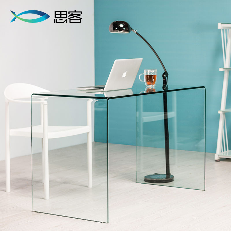elegant desk home office ikea modern glass computer
