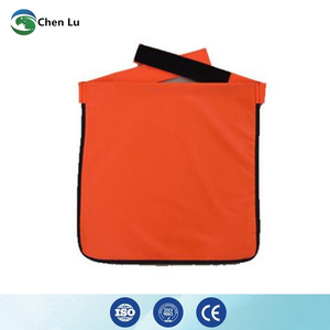 Image 2 - Genuine adult gonadal protection 0.5mmpb half lead apron medical gamma rays and x ray radiation protective square scarf