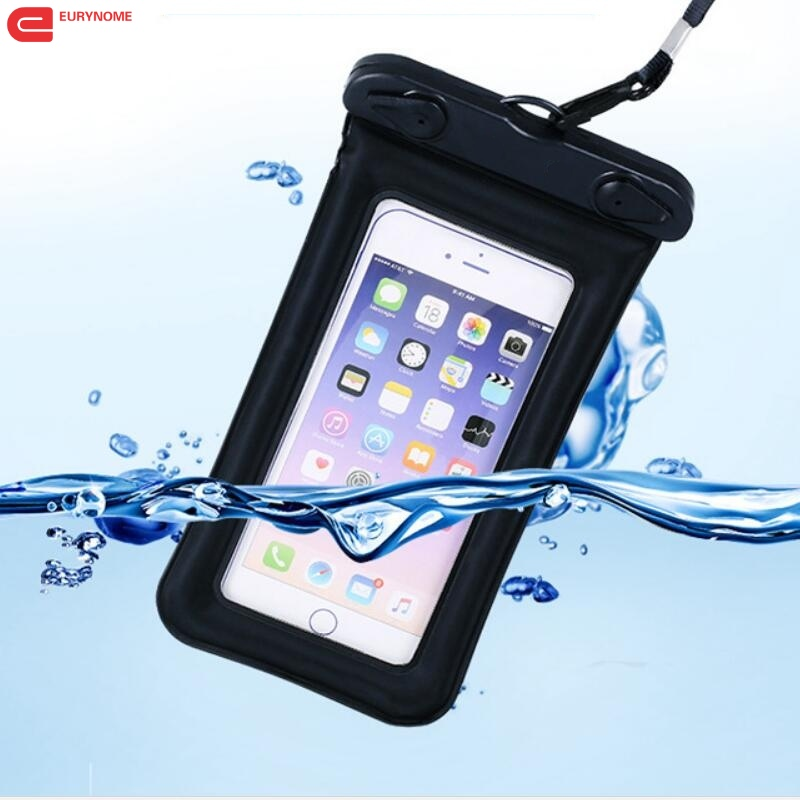 new style 7ff92 bfbb7 US $3.68 5% OFF|Waterproof Case For Samsung Galaxy S9 A8 2018 J7 DUO S5 S6  edge plus S7 edge S8 plus A6 2018 J4 J6 J8 Swimming Bag Cover -in Phone ...