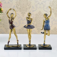 Retro Ballet Girl Figurine Handmade Resin Ballerina Beauty Sculpture Decoration Souvenir Gift and Craft Ornament Accessories