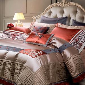 Image 5 - Svetanya lüks brokar nevresim takımı kral kraliçe çift boyutu yatak çarşafları