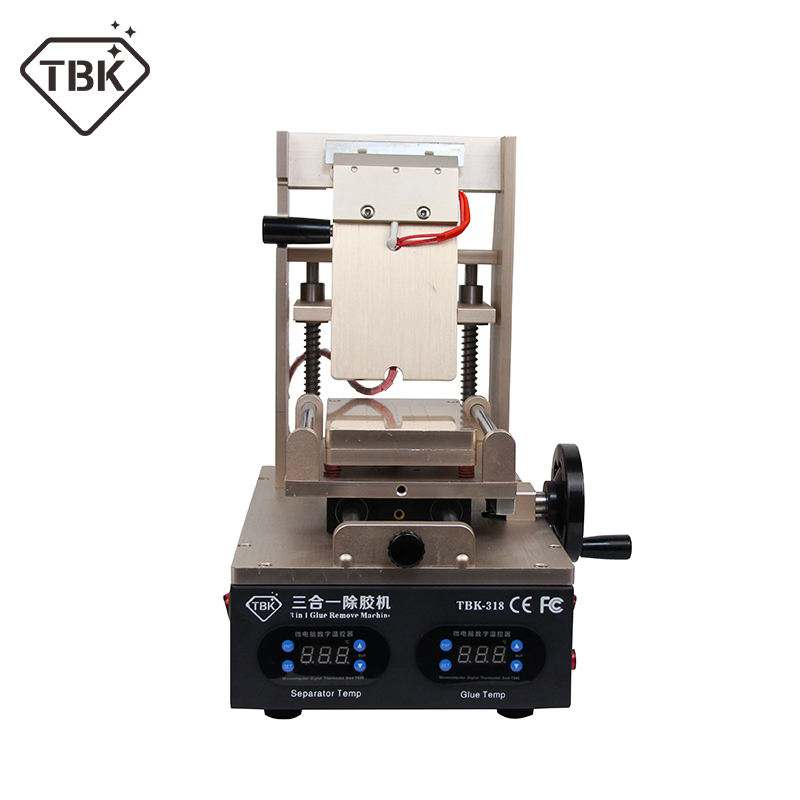 лучшая цена NEW TBK-318 3 in 1 Vacuum LCD Screen Separator + Preheater +OCA Glue Polarizer Remover Mobile Phone LCD Screen Refurbish Machine