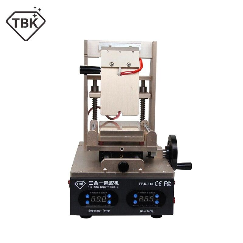 NOUVEAU TBK-318 3 dans 1 Vide LCD Écran Séparateur + Préchauffage + OCA Colle Polariseur Remover Mobile Téléphone LCD Écran rénover Machine