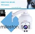 2016 Marco MINI câmera PTZ 1080 P IP Câmera de segurança completo HD High speed dome cctv câmera com cartão de 64G livre grátis
