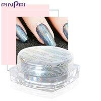 PinPai Sıcak Satış Tırnak Tozu Ithal Gökkuşağı Etkisi Lazer Toz Tırnak Sanat DIY ve Salon Nail Glitter Shining Manikür Güzellik