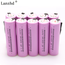INR18650 Rechargeable Battery 18650 for batteries Li-ion 20A Discharge 2600mAh 3.7V + DIY Nickel Sheets