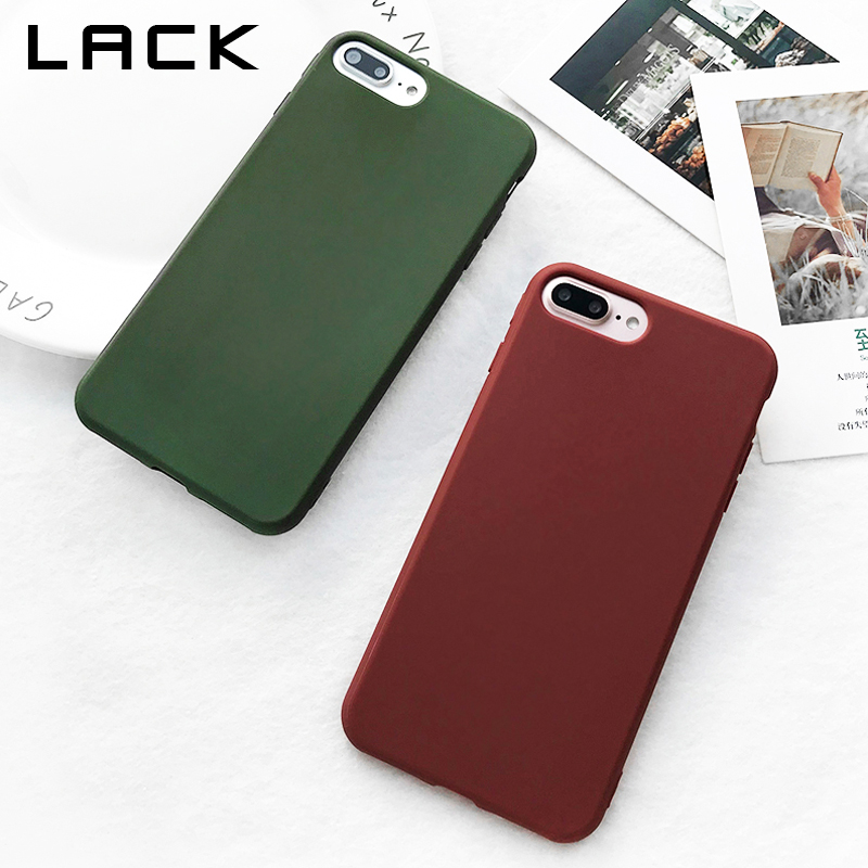 Galleria fotografica LACK Cute Candy Color Phone Case For iphone 6 Case Retro Wine Red Dark Green Cover Soft TPU Silicone Cases For iphone 6S 6 Plus
