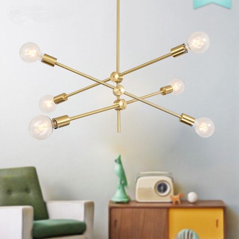 Black Gold Post-modern LED Pendant Lights LED Kitchen Lights LED Lamp Bedside Hanging Lamp Ceiling Lamps Branch Light Fixture