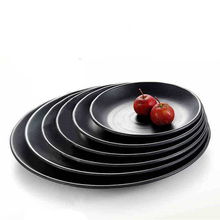 Black Frost Imitation Porcelain Dinnerware Round Dinner Plate Western Restaurant With Melamine Dish A5 Melamine Tableware  sc 1 st  AliExpress.com & Buy dinner plates restaurant and get free shipping on AliExpress.com