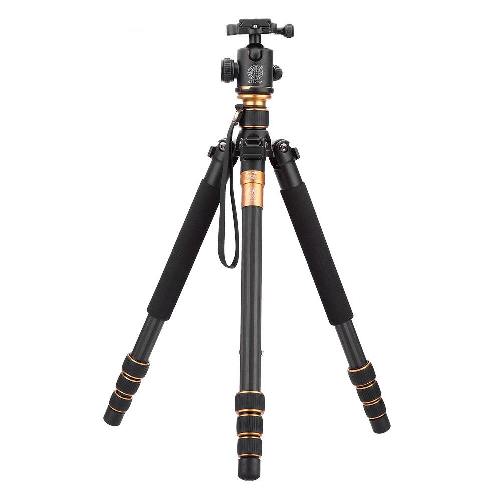 Углеродного волокна DSLR Камера штатив оригинальный QZSD Q999C профессиональный монопод + шаровой головкой/Портативный фото Камера лучше, чем Q666