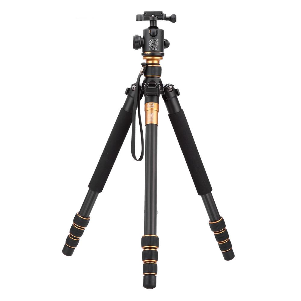 Carbon Fiber DSLR Camera Tripod Original QZSD Q999C Professional Monopod+Ball Head/Portable Photo Camera Better than Q666
