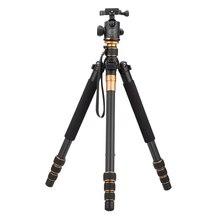 Углеродного волокна камеры dslr-штатив оригинальный QZSD Q999C профессиональный монопод + / портативный фотоаппарат лучше , чем Q666