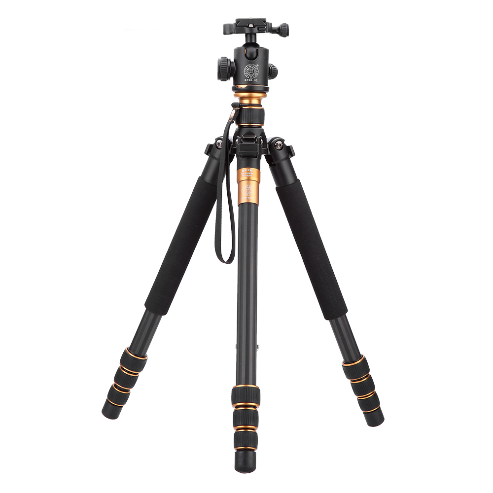 Fiber de carbone appareil Photo reflex numérique trépied d'origine QZSD Q999C professionnel manfrotto + rotule / Photo Portable caméra mieux que Q666