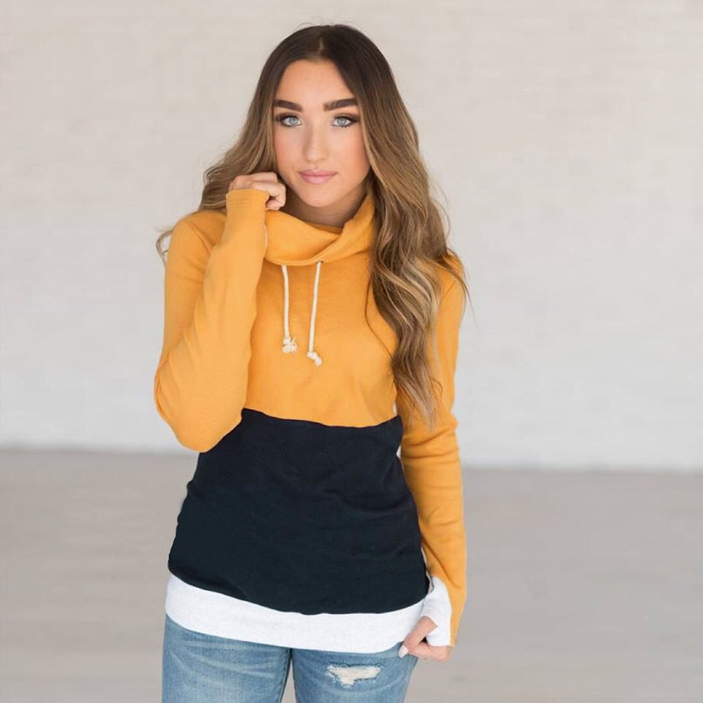 female winter hoodies womens patchwork cotton casual harajuku clothes fashion broadcloth patchwork pullovers women sweatshirt in Hoodies amp Sweatshirts from Women 39 s Clothing