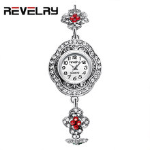 REVELRY Women Fashion Watch Creative Lady Casual Watches Diamond Bracelet Stylish Desgin Silver Quartz Watch for Female 2019(China)