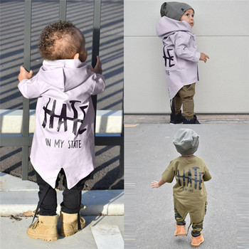 2018 New Style Jacket Baby Winter Wear   Newborn Infant Baby Boy Girl Hooded Letter Jacket Hoodies Coat Outwear Clothes QC3 одежда на маленьких мальчиков