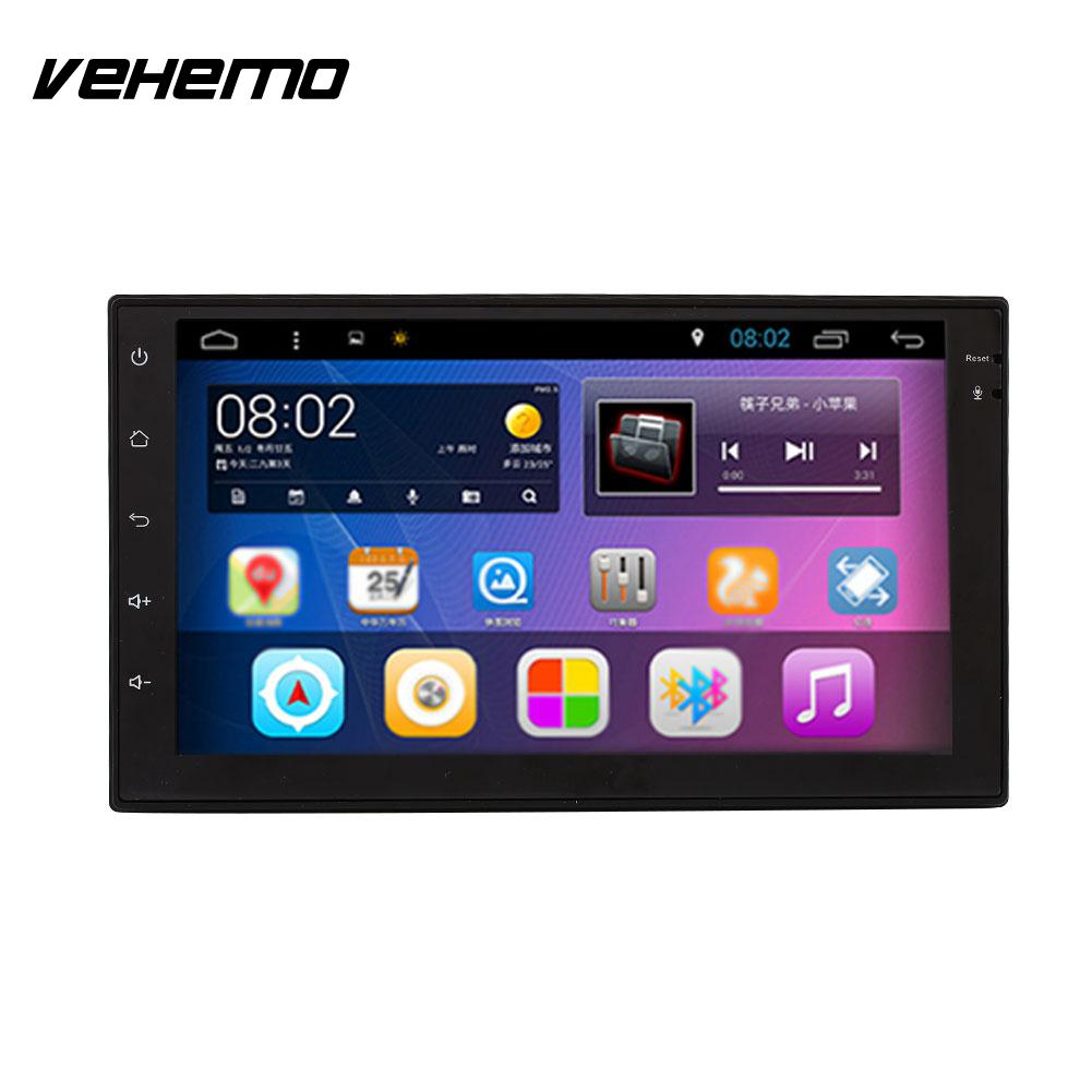 VEHEMO Touch Screen FHD WIFI Bluetooth Car GPS MP5 Player OBD Display Navigation 4K Video Player Rearview Input