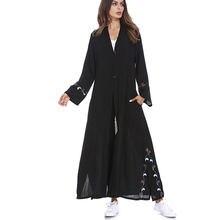 Мусульманские женские платья lslamic вышитые кардиганы длинные