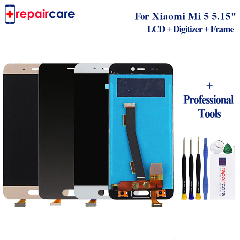For <font><b>Xiaomi</b></font> Mi 5 LCD <font><b>Display</b></font> Touch Screen Digitizer Assembly Replacement 5.15