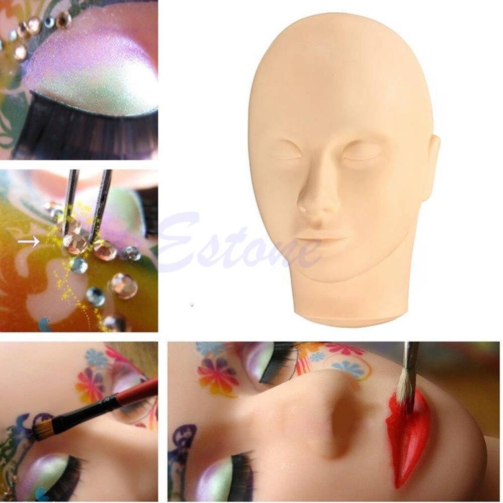 Pro Training Facial Massage Mannequin Flat Female Head Practice Makeup Eye Lashes Eyelash Extensions
