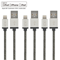 6PCS CACOY PowerLine Kevlar Lighting to USB 3ft/6ft Charging Cable 2M MFI Certified for Lightning to USB Cable for Iphone