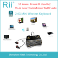 Rii MINI i28 K28 Wireless Air mouse teclado retroiluminado Audio Touchpad ratón Combo teclado para juegos para HTPC Andorid / Smart TV Box PC