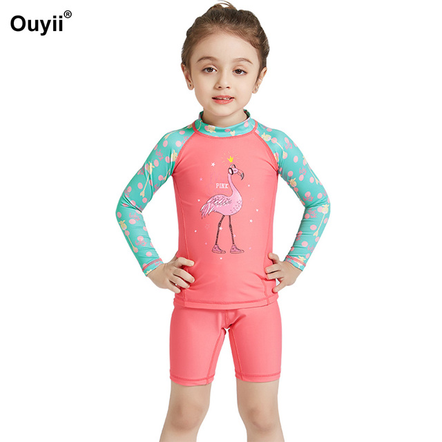 f8b0ae8171 Newest Kids Swimsuit Rash Guards Swimwear Two Piece Bathing Suit Children  Sunscreen Swimming Suit Wetsuit Beachwear