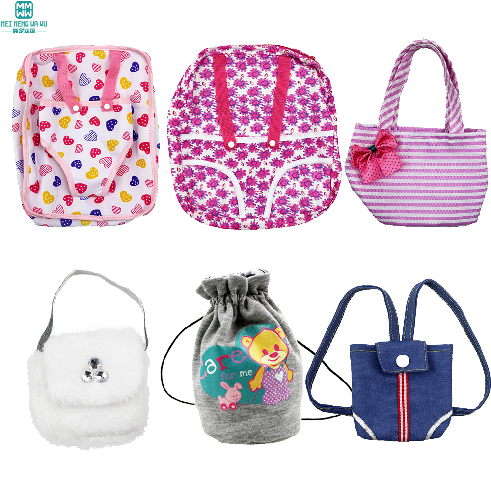 Mini Baby Small Backpack For 40cm-45cm Sharon Doll American Doll And New Born Doll Accessories