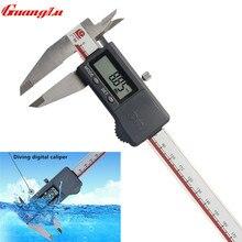 Best price GUANGLU Waterproof Digital Caliper 0-200mm/0.01 IP67 Stainless Steel Electronic Gauge Dustproof Measuring Tools