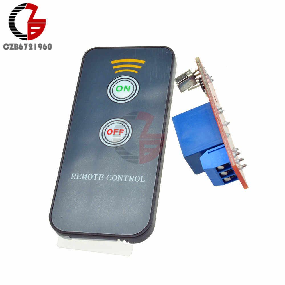 White Remote Control 2 Channel 12V IR Receiver Relay Driver Board Module
