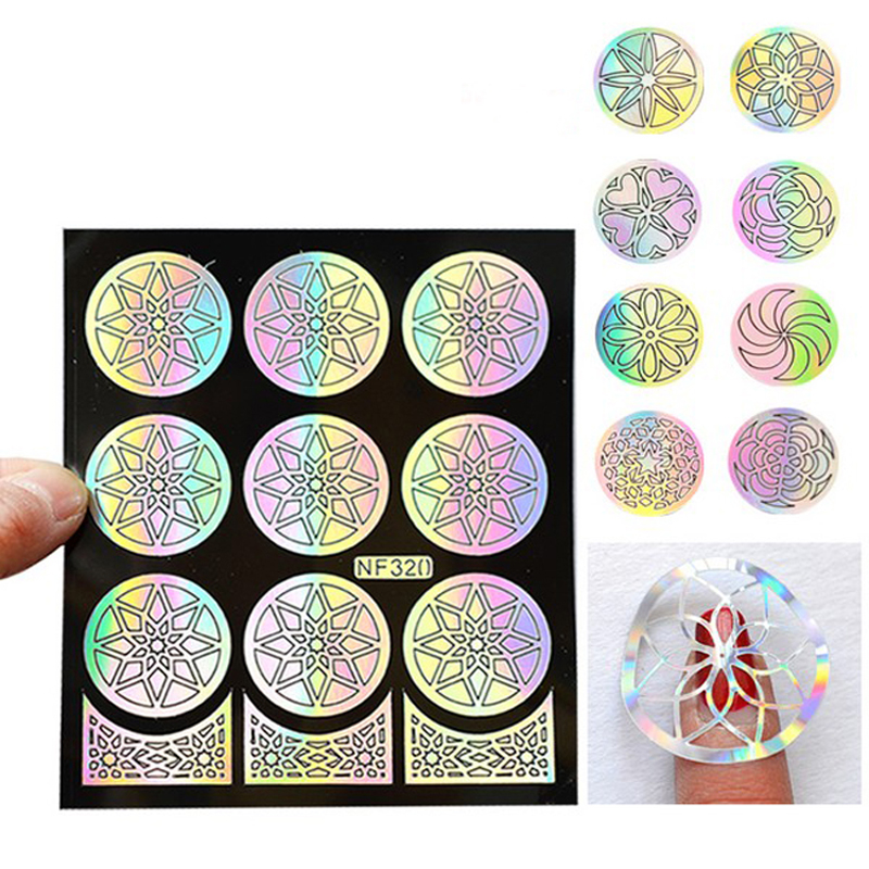 1Pcs Nail Design Hollow Stencils Stickers Plates Template Guide Nail ...