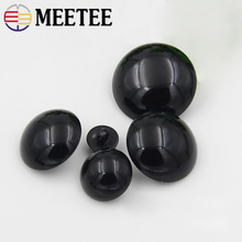 Decorative New Arrival 2016 Black Buttons 100pcs/lot Mushroom Plastics Childrens Buckle Animal Eyes 8mm-34mm