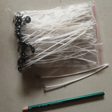 100 PCS 20cm/7.8inch Candle Wicks Pre Waxed PreTabbed With Sustainers Cotton Coreless Candle Wicks Cotton Making