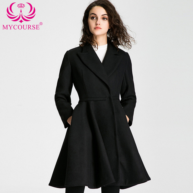 521479c4f9d MYCOURSE Winter Coat Women Elegant Vintage Woolen Coats Maxi Dress Wool  Coat Long Jacket Female Parka Slim Skirt Swing Jackets